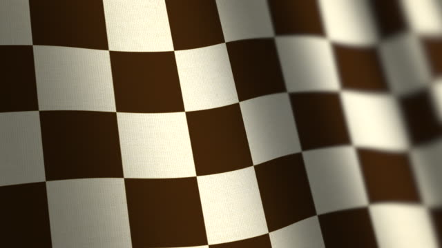 Chequered Flag - Loop. 4k video