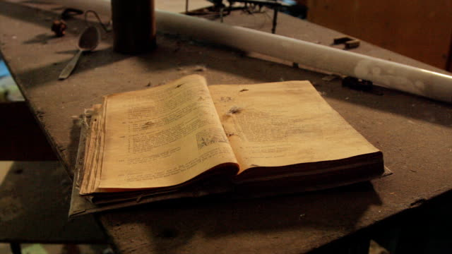 Chernobyl - School Book Left Behind at Disaster
