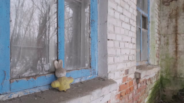 Chernobyl An abandoned toy in Chernobyl area. 4k Video abandoned stock videos & royalty-free footage