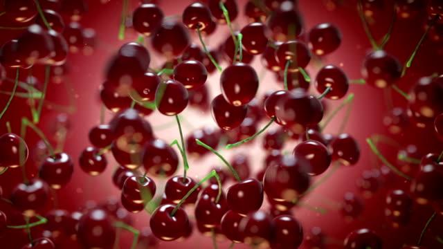 Cherries Flying Cherries cherry stock videos & royalty-free footage