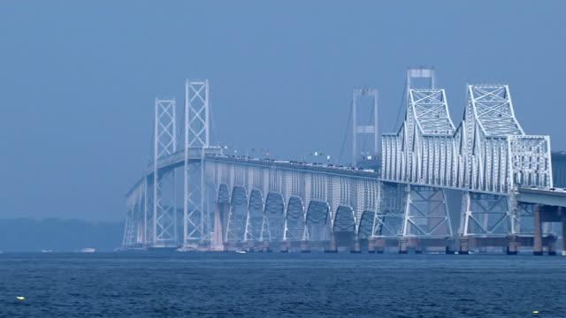 chesapeake bay bridge_pan1 hd (1080/29,97 - baia video stock e b–roll