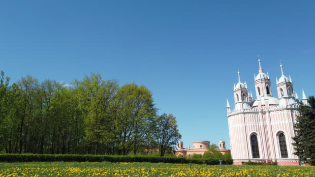 chesme church in sun shine. video