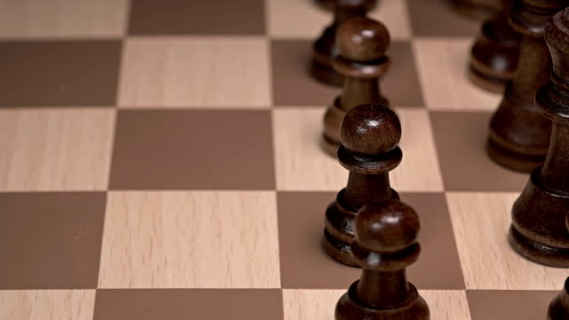 chess piece pawn goes forward video