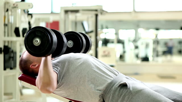 chest press - weights stock videos & royalty-free footage