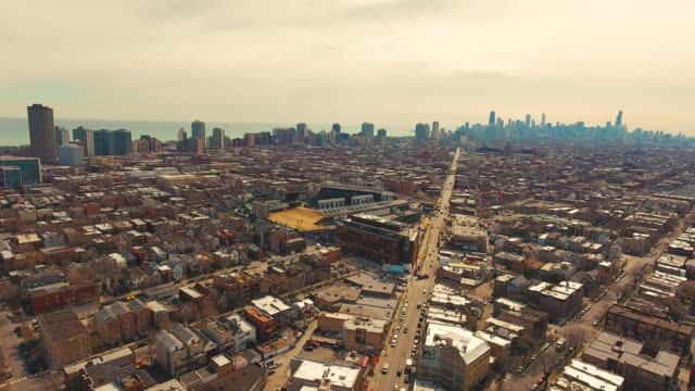 Chicago Aerial Drone Wrigleyville North Side video