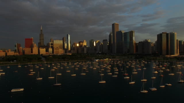 Chicago at Dawn with Lake Michigan video
