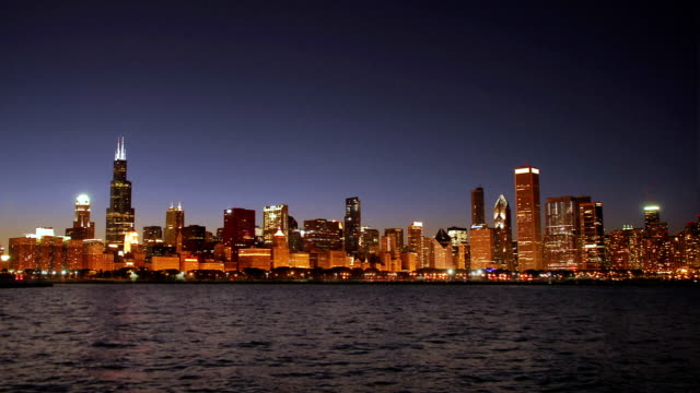 Chicago at Night video