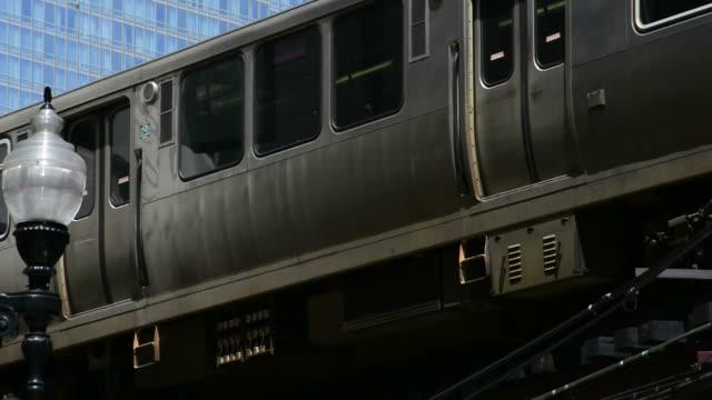 Chicago El Train  chicago stock videos & royalty-free footage