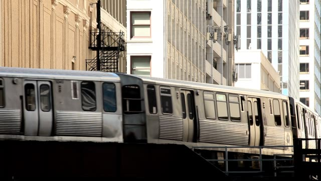 chicago elevated train video