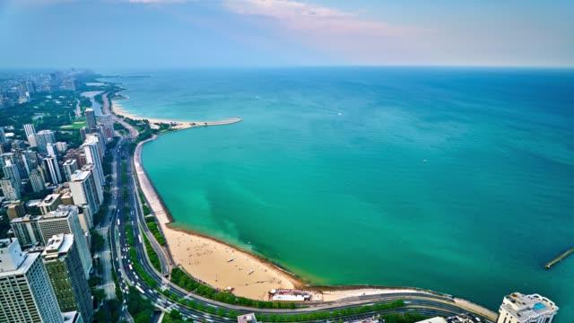 Chicago. Lake Michigan. Aerial view.
