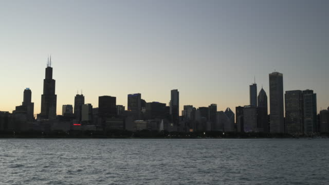 Chicago Lakefront 4k Timelapse Evening to Night video