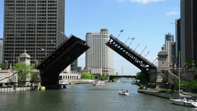 Chicago Michigan Avenue Bridge Rising video