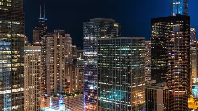 Chicago Riverwalk Day to Night Time Lapse