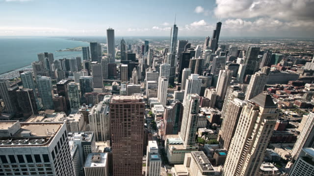 Chicago skyline time lapse video