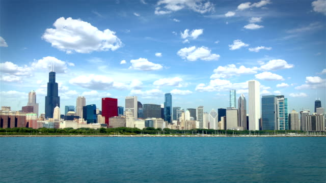 Chicago Skyline, USA  (2 shots) video