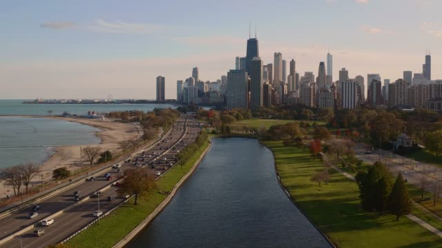 Chicago Skyline Chicagos Lincoln Park chicago stock videos & royalty-free footage