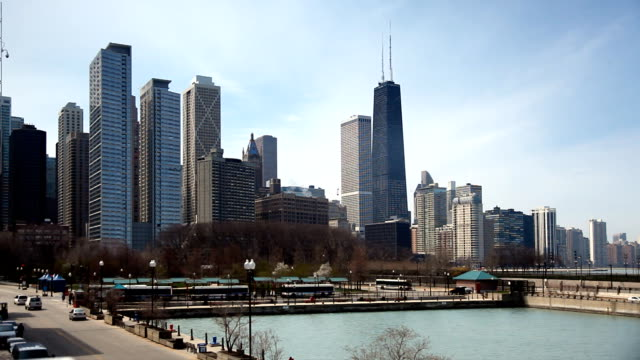Chicago skyline view from Navy Pier video