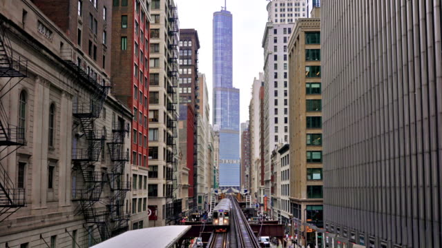 chicago subway. train. business downtown - chicago architecture stock videos & royalty-free footage