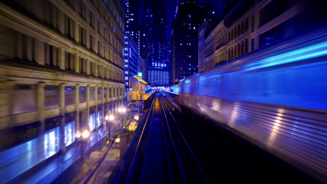 Chicago Subway Cityscape chicago architecture stock videos & royalty-free footage