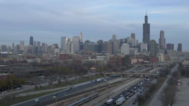 Chicago Timelapse From West Side 4k video