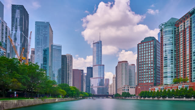 chicago - chicago architecture stock videos & royalty-free footage