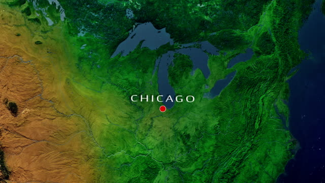 chicago zoom in - aerial map stock videos & royalty-free footage