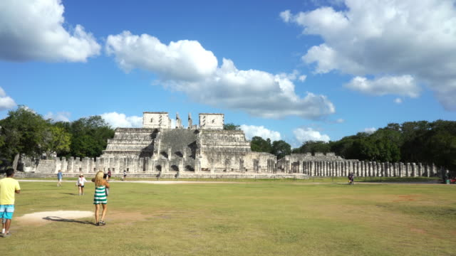 Chichen Itza fast motion from Warriors temple to Kukulkan Pyramid video