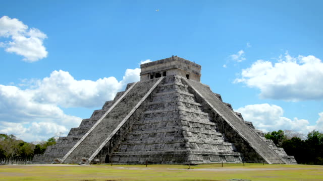 Chichen Itza, Mexico Timelapse of Chichen Itza, Mexico during the daytime  old ruin stock videos & royalty-free footage