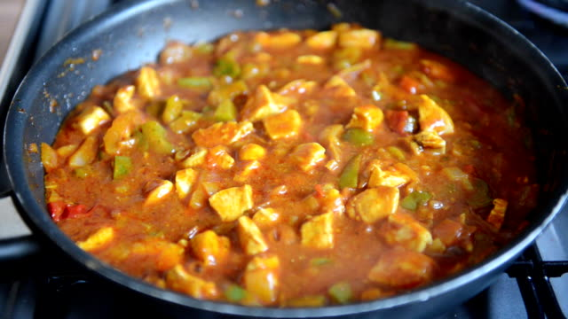 Chicken Curry Cooking in Pan video