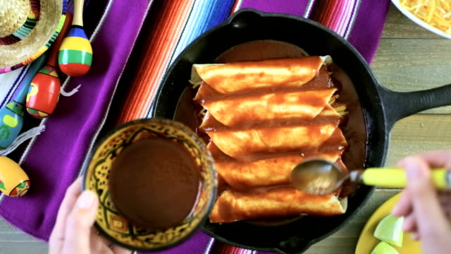 Chicken enchiladas video