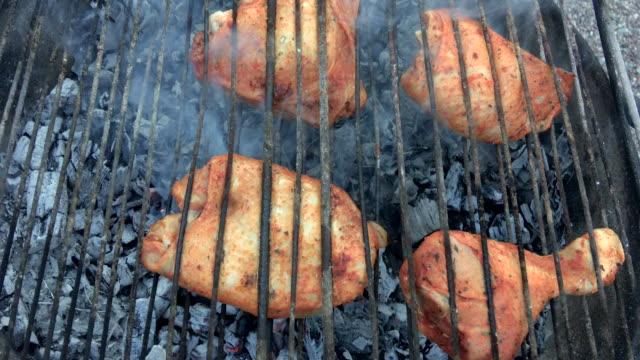 BBQ Chicken on grill video
