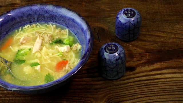 Chicken soup with vegetables video