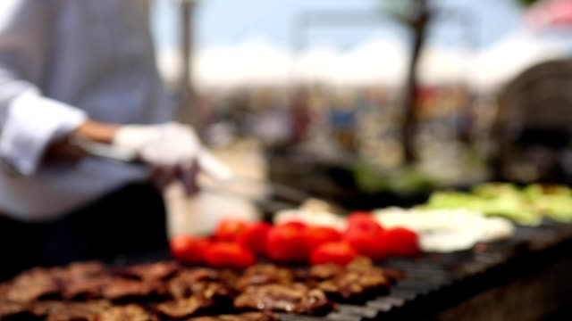 Chief barbecue outdoors video