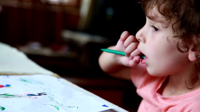 https www istockphoto com video child chewing the pencil gm1066297634 285143312