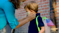 istock Child getting ready to go to school in pandemic times 1226528184