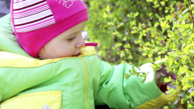 Child in nature video
