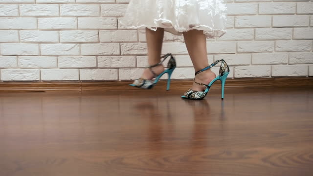 a child in shoes for women - high heels stock videos & royalty-free footage