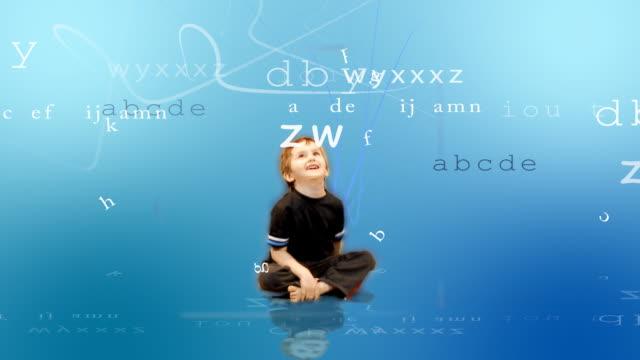 Bambino Impara a animato lettere - video