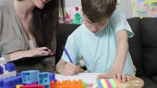 Child psychologist at work video