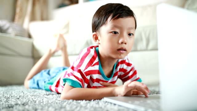Child Using laptop video