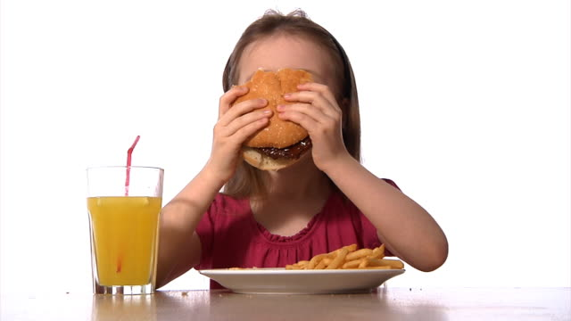 Child with fast food video
