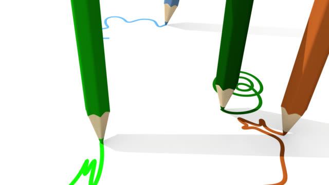 children draw at school video