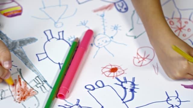 Children Drawing Fantasy Creatures video