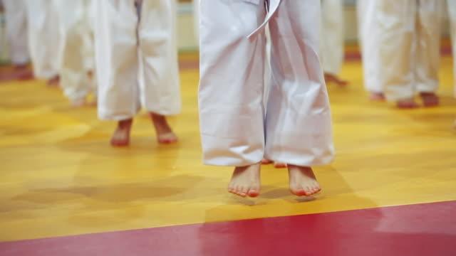Children during training exercises
