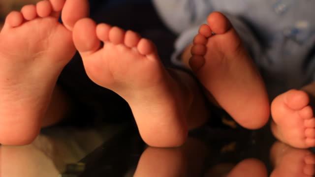 Children feet video