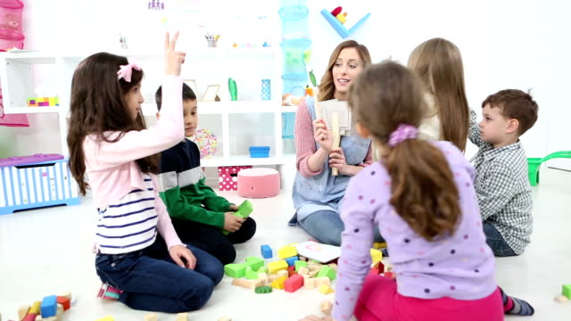 HD: Children Guessing Vegetables in a kindergarden. video