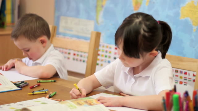 Children in Classroom video