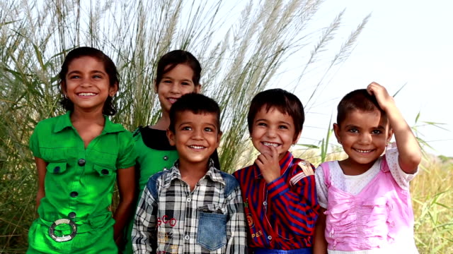 Children Laughing HD 1080: Rural Indian Children Laughing Together Outdoor. poverty stock videos & royalty-free footage