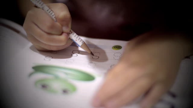Children learn to write. video