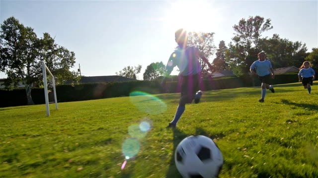 children playing soccer - soccer stock videos and b-roll footage
